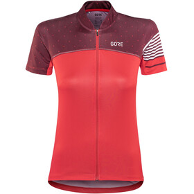 GORE WEAR C5 Jersey Women hibiscus pink/chestnut red